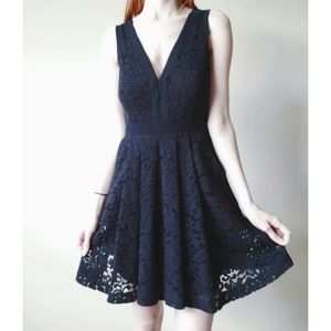 Free People Lovely in Lace Fit & Flare Dress